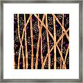 Bamboo Forest At Night Framed Print