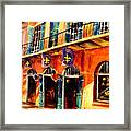 Banners On Royal Street Framed Print