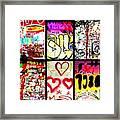 Barcelona Graffiti Wall  Framed Print