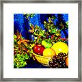 Basket With Fruit Framed Print