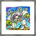 Bass Monster Framed Print