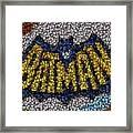Batman Bottle Cap Mosaic Framed Print