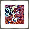 Bbq Pit Abstract Framed Print