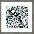 Beach Glass Flowers 2- Art By Linda Woods Framed Print