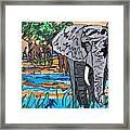 Beaded Elephant Framed Print