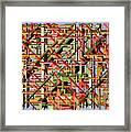 Beams Abstract Art Framed Print