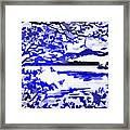 Beautiful Blue Pop Art Scene Framed Print