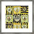 Bee Happy Framed Print by Jen Norton