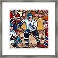 Bell Center Hockey Art Goalie Carey Price Makes A Save Original 6 Teams Habs Vs Leafs Carole Spandau Framed Print