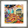 Bellagio Conservatory Fall Peacock Display Side View Wide 2 To 1 Ratio Framed Print