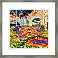 Bellagio Conservatory Fall Peacock Display Side View Wide 2017 Framed Print
