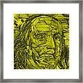 Ben In Wood Yellow Framed Print