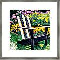 Big Old Chair Evening Light Framed Print