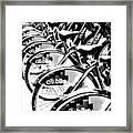 Bike Fleet Framed Print