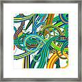 Bipolar Mania Rollercoaster Abstract Framed Print
