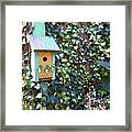 Bird Feeder In Ivy Framed Print