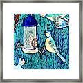 Bird People The Bluetit Family Framed Print by Sushila Burgess