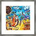 Birthday Party With Mister Taco And Piata Framed Print