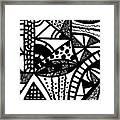 Black And White 16 Framed Print