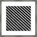 Black And White Abstract Lines Framed Print