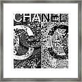 Black And White Chanel Art Framed Print