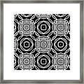 Black And White Modern Roses- Pattern Art By Linda Woods Framed Print