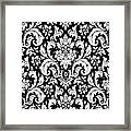Black And White Paisley Pattern Vintage Framed Print