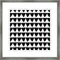 Black And White Triangles- Art By Linda Woods Framed Print