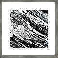 Black White Modern Art Framed Print