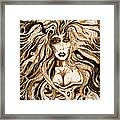 Blackmedusa-sepia Framed Print