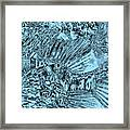 Blue Abstract - Lionfish Framed Print