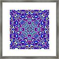 Blue And Pink Wallpaper Fractal 71 Framed Print