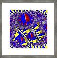 Blue And Yellow Bits 2 Framed Print