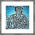 Blue Brad Framed Print