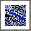 Blue Current Framed Print
