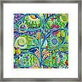 Blue Fish Forest Framed Print