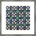 Blue Green Lisbon Tiles Souvenirs Framed Print