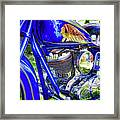 Blue Indian Framed Print