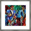 Blue Jazz Framed Print