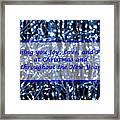Blue Lights Abstract Christmas Framed Print