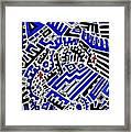 Blue Maze Framed Print