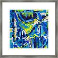 Blue Moon City Framed Print
