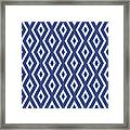 Blue Pattern Framed Print