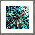 Blue Shiny Stones Gems In A Circular Pattern Framed Print