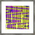 Blue Sky And Color Squares Abstract,#4 Framed Print