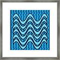 Blue Wave Over Wave Pattern On Gifts Shirts Pillows Tote Bags Phone Cases Shower Curtains Duvet Cove Framed Print