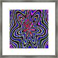 Blue White And Red Abstract #2944e2c Framed Print
