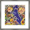 Blueberry Dog Framed Print