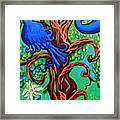 Bluebird In Tree Framed Print