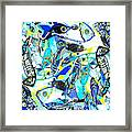 Blues Fishes Framed Print